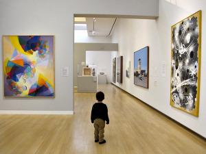 child at museum
