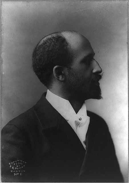 W.E.B. Dubois, Photograph taken by J.E. Purdy in 1904, public domain via Library of Congress