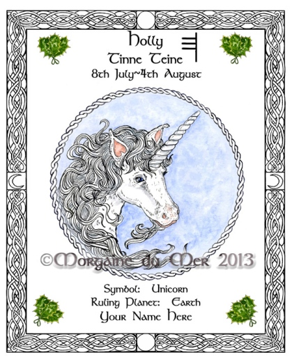 Holly_Unicorn_Celtic_Zodiac_Print